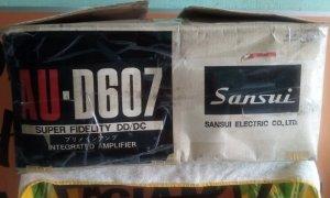 Ampli SanSui AU-D607 có thùng xốp