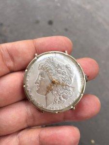 ĐH xu Mỹ LIBERTY 1889 bạc đúc .