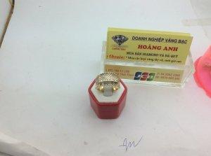 Nhẫn Nam vàng 14k Gold Diamond Blue Ring for Men ổ  ngoại đính đính 73 viên kim cương H10175