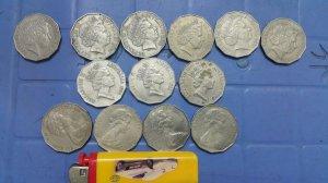 13 xu 50 cent Australia