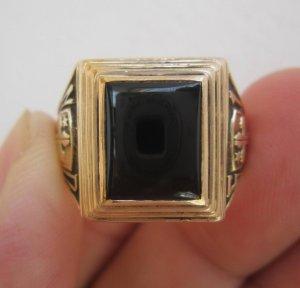 Nhẫn 10K, hột đen tự nhiên,...