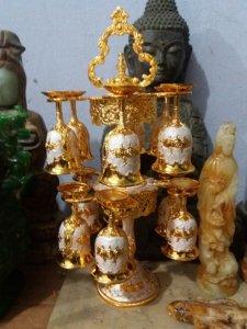 Bộ ly treo trưng bày đẹp lung linh