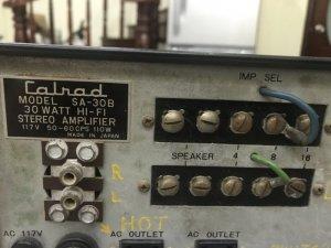 amp đèn Calrad SA-30B