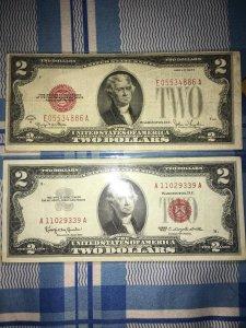 Hai Đô Cổ Năm 1928 đuôi 86 và 2$ năm 1953 đuôi 1102
