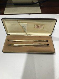 Bộ Bút CROSS 1/20 10 KT GOLD FILLED SYLVANIA MADE IN USA (Zin Trọn Bộ )- Đồ Xưa