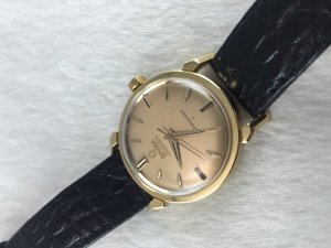 "Rare Omega Seamaster Chronometre Automatic ""spider leg"" solid 18k gold Case & Dial's 18k Cal505"