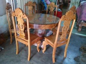 Bộ bàn tròn 6 ghế hàng tuyển