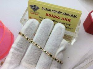 lắc tay Nữ vàng 10k Gold Diamonds & Emerald lắc ngoại SX  H10187