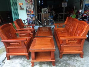 Bộ ghế 5 món gỗ gõ lào