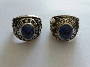 Nhẫn bạc mỹ đá xanh đẹp lung linh điêu khắc tinh xảo