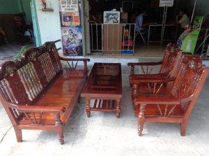 Bộ ghế gỗ lim xưa