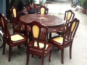 bộ bàn ăn 6 ghế gõ đỏ