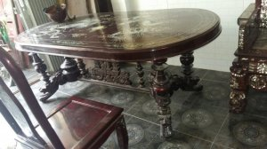 bộ bàn ghế sư tử xưa