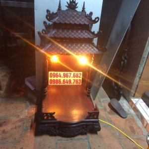 bàn thờ gỗ Gụ đánh Vecni lối cổ