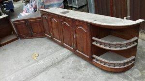 thanh lý 3 bộ kệ bếp treo . gỗ > inox > nhôm trắng