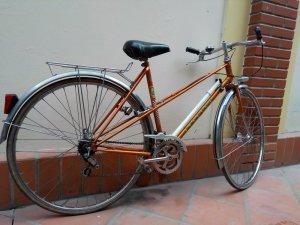 Xe đạp Peugeot 1970's Made in France màu cá vàng và trắng