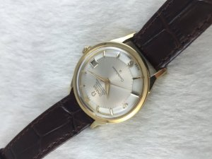 "Omega Constellation Pie Pan Chronometer Automatic ""dog leg"" solid 18k gold Cal561 Numeric dial"