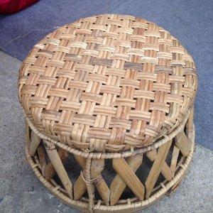 Ghế mây Điện Biên cao 20 cm, handmade
