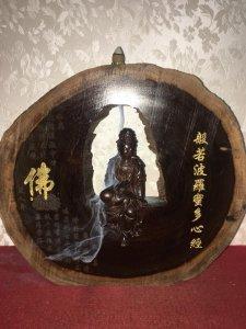 Thác trầm quan âm tự tại rất đẹp và độc đáo, được chế tác từ gỗ trinh nam chất gỗ đẹp và chắc chắn.
