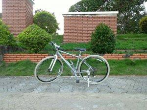 Xe đạp Giant bạc - Hàng bãi Nhật