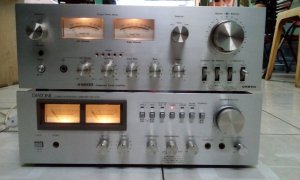 Ampli Onkyo A6600 , Diatone DA - U 510