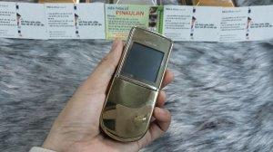 Nokia 8800 Sirocco màu gold nguyên zin thay vỏ đẹp 98%