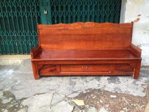 Ghế kéo thành giường gỗ hương
