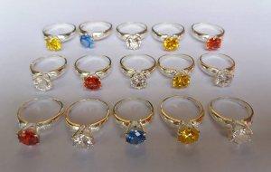 Nhẫn bạc nguyên khối đính đá quý dành cho nữ theo đạo Thiên Chúa