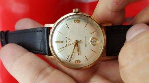 Đồng hồ benrus 3 sao vỏ bọc vàng hồng xưa chính hãng