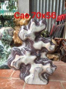 Cây đá vân thổ cẩm nặng 56kg,cao 70cm ,e bán có giá