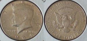 Xu half dollar bạc Kenney 1964