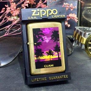 Zippo đồng khối Guam kỉ niệm 55 thành lập zippo 1932- 1987