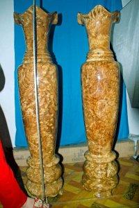 Lộc bình nu ngọc nghiến. Kt cao 131cm đường kính 30,5cm