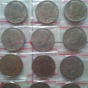 Bộ xu Kennedy half dollar 1964-2017