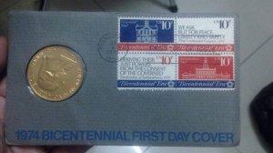 Bid thư ngày đầu tiên - FDC 1974
