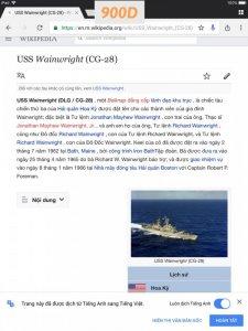 Z.900D-chữ xéo xuất Nhật sơn tĩnh điện 1989 USS WAINWRIGHT  CG-28 (Tàu