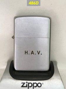 Z.486D-ba hàng chữ vỏ đồng , ruột niken ,lề 3 chấu 48-49 Khắc chữ :H.A.V. -