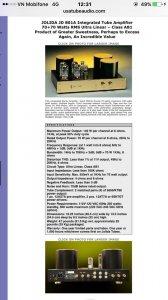 Pow Đèn Jolida Jd801A Kt88 + Pre Luxman Lc35 - Pow Đèn Tango 6550 Mỹ + Pre Luxman L35