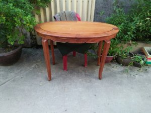 2 bàn ô van gỗ hương