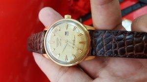 Đồng hồ Longines conquest calendar vỏ vàng khối 18k xưa chính hãng thụy sỹ