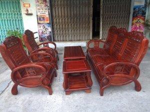 Bộ ghế gỗ xoan đào 5 món