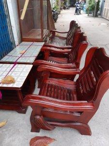 bộ salon malay gỗ xoan đào 5 món 4tr