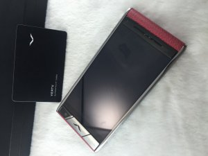 Vertu Aster stainless steel & leather 2014 fullbox like-new