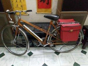 Túi treo xe đạp cổ PEUGEOT thợ thủ công Pháp làm cực đẹp và chất