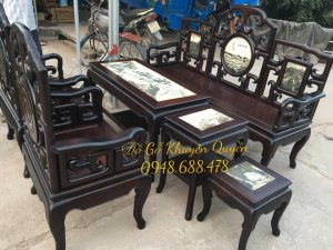 ghế móc gỗ gụ 6 món