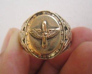 Nhẫn 10K, lực lượng Không quân Hoa kỳ thế chiến thứ II, vàng nguyên khối.