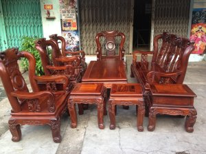 Bộ ghế gỗ tay 10 Cẩm lai việt 10 món