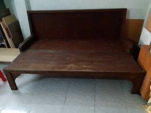 ghế kéo thành giường gỗ hương. gõ