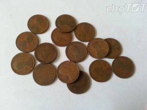 Xu 1 cent bông lúa Mỹ