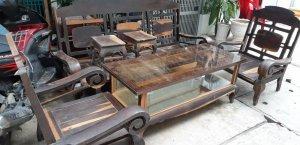 salon tay cuộn gỗ mun nam phi